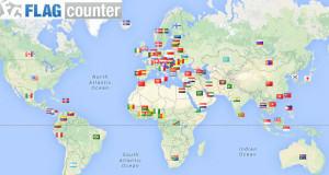 vlaječky států odpovídají všem návštěvám v průběhu tří let.